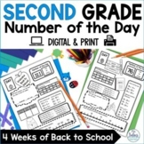 Back to School Second Grade Math First Day Place Value Num
