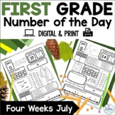 First Grade Number of the Day Number Sense July Summer School