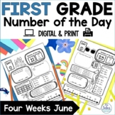 First Grade Number of the Day Number Sense June Summer School
