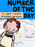 Number of the Day Google Drive AND Printables