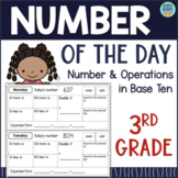 Grade 3 NUMBER OF THE DAY Daily Math: Addition Subtraction Rounding Place Value