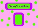 Number of the Day! Grades k-2