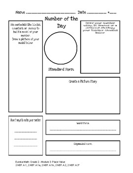 Number of the Day Graphic Organizer