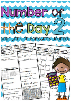 Number of the Day Homework Journal 2