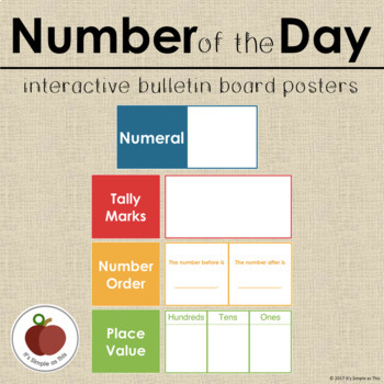 Number of the Day Interactive Bulletin Board Set