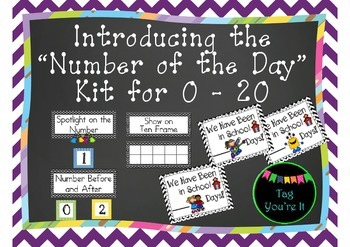 Number of the Day Introdution Kit in Chevron for 0 - 20
