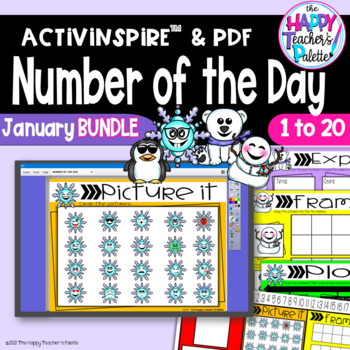 Number of the Day *January BUNDLE*  Promethean Board Flipchart and Printables