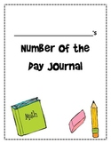 Number of the Day Journal Cover Page