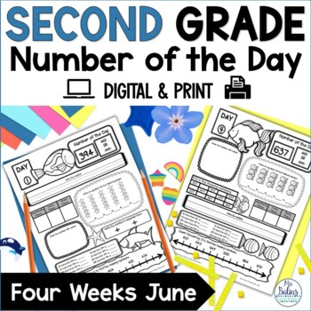 Second Grade Place Value Number of the Day June