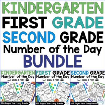Number of the Day {Kinder, First & Second Grade Bundle} All Three Grades Bundled