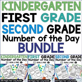 Number of the Day {Kinder, First & Second Grade Bundle} All Three Grades Bundled