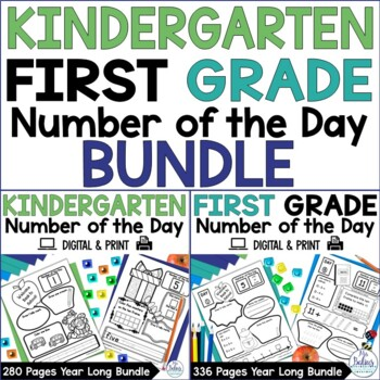 Back to School Number of the Day {Kinder and 1st Grade} Both Geades Bundled