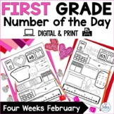 First Grade Number of the Day Number Sense February