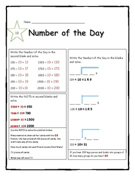 Number of the Day- Long Division with 2 divisors