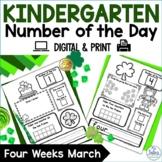 Kindergarten Math Number of the Day Number Sense Morning Work March