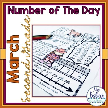 Second Grade Math Place Value Number of the Day March