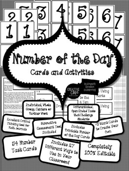 FREE Number of the Day Activity for Pocket Chart