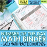 Number of the Day Math Morning Work Binder FREE SAMPLE | D