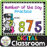 Number of the Day Math Practice Distance Learning Google C
