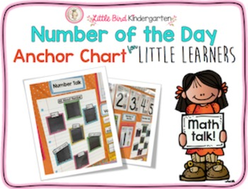 Number of the Day Math Wall Anchor Chart for Little Learners