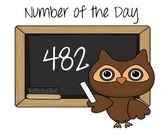Number of the Day- Math morning work