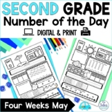 Digital Google Slides™ Second Grade Math Place Value Number of the Day May