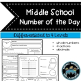 Number of the Day - Middle School