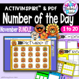 Number of the Day *November BUNDLE*  Promethean Board Flipchart and Printables