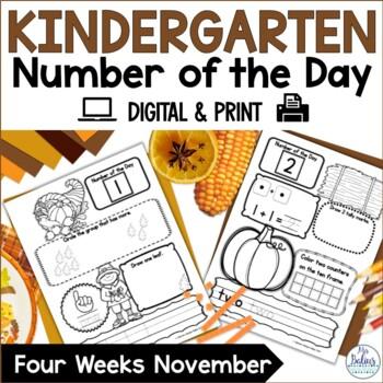 Number of the Day {November} Kindergarten Math