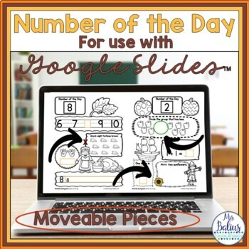 Kindergarten Math Number of the Day Number Sense Morning Work November