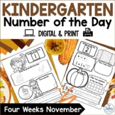 Number Sense Google Slides™ Number of the Day Kindergarten