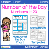 Number of the Day | 1st Grade | Templates, Worksheets & Chart