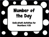 Number of the Day: Numbers 1-20