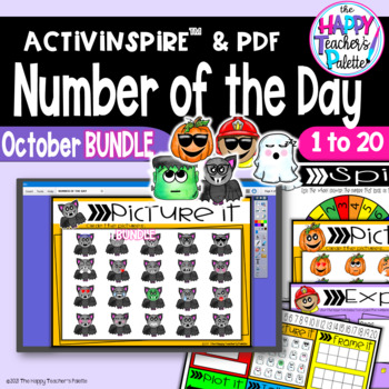 Number of the Day *October BUNDLE*  Promethean Board Flipchart and Printables