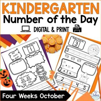 Kindergarten Math Number of the Day Number Sense Morning Work October