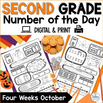 Place Value Second Grade Math Number of the Day October