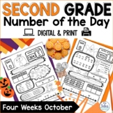 Place Value Worksheets Second Grade Math Number of the Day October