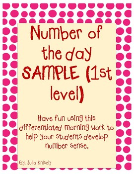 Number of the Day Packet SAMPLE