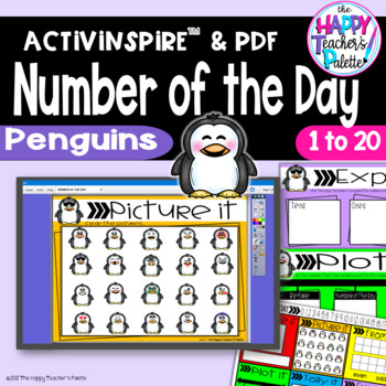 Number of the Day *Penguins* Interactive Promethean Board Flipchart Printables