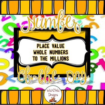 Place Value Number of the Day: All About Place Value & Numeracy
