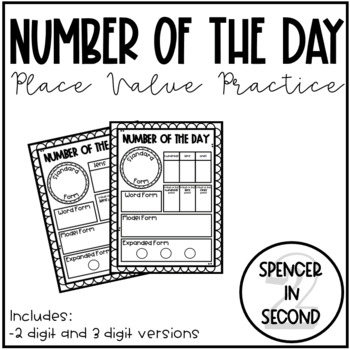 Number of the Day Place Value Practice