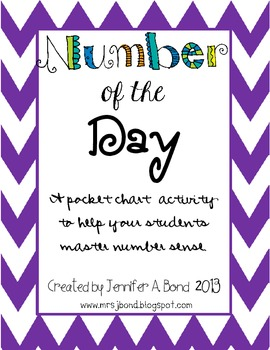 Number of the Day Pocket Chart