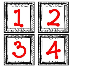 Number of the Day Pocket Chart Cards