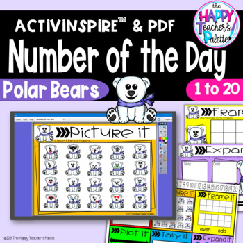 Number of the Day *Polar Bears* Interactive Promethean Board Flipchart Printable