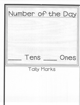 Number of the Day Poster 1st-2nd Grade