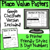 Number of the Day Poster: Place Value 3 Digits Digital Goo