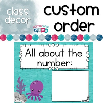 Number of the Day Posters OCEAN theme