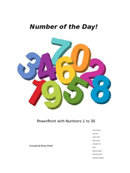 Number of the Day PowerPoint Numbers 1 to 30