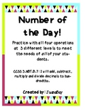Number of the Day: Practice with the 4 Operations at 3 Dif
