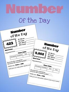 Number of the Day - Printable, Editable & Google Drive Version!